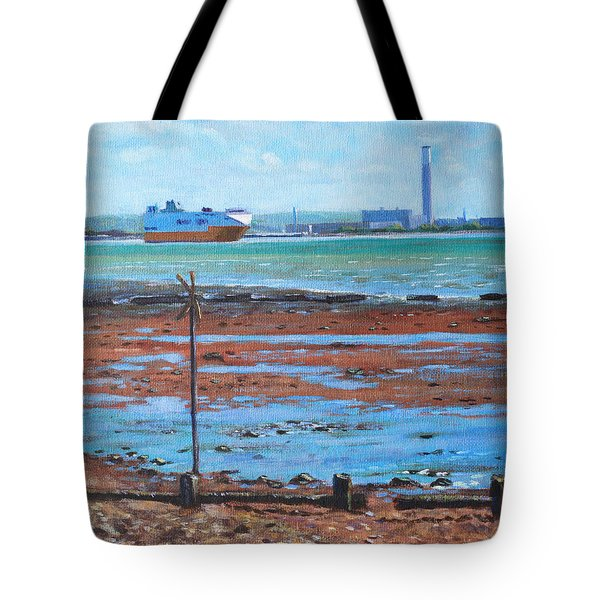 Fawley Power Station From Weston Shore Hampshire Tote Bag