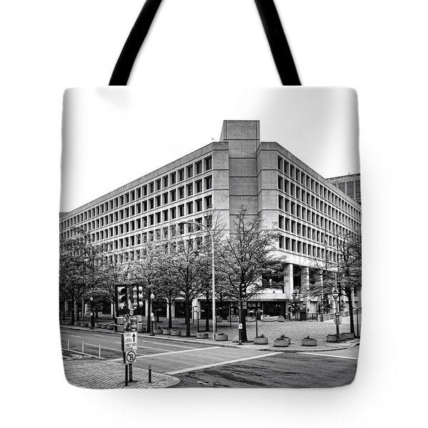 Fbi Building Front View Tote Bag