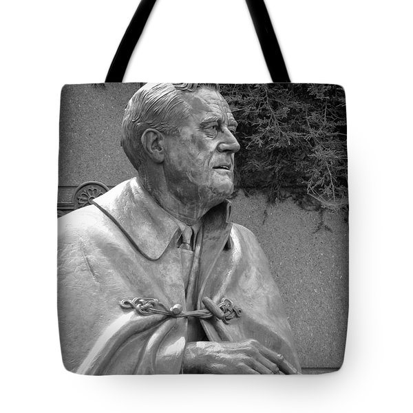 Fdr Statue At Fdr Memorial Tote Bag