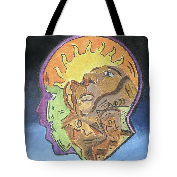 Tote Bag featuring the painting Fear Of The Unknown by Dwayne Glapion