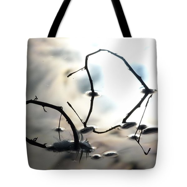 Feather And Branches Tote Bag
