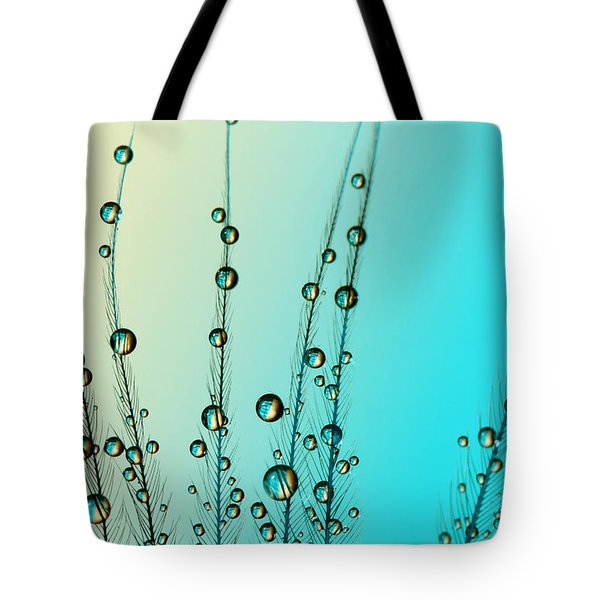 Feather Drops With Blue Tote Bag