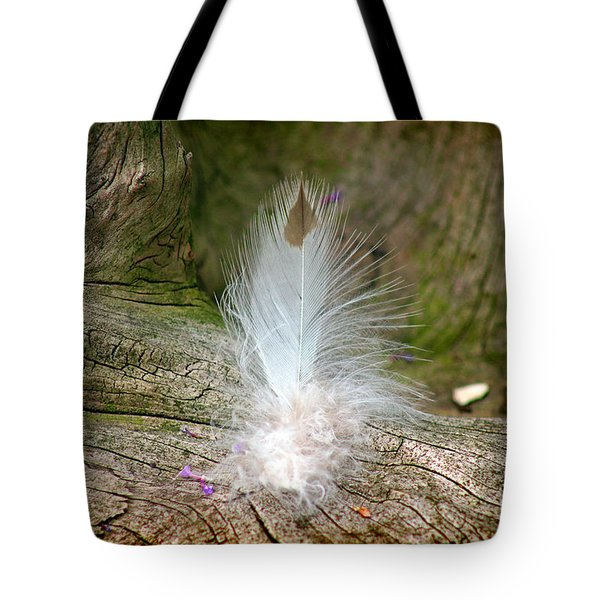 Feather Tote Bag by Karen Adams
