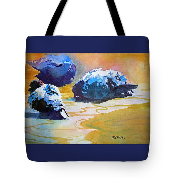 Feather Light Tote Bag by Kris Parins
