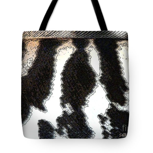 Feather Textures Tote Bag by Sally Simon