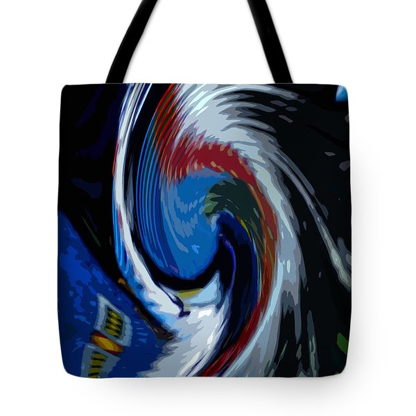 Feather Whirl Tote Bag by Randy Pollard