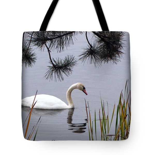 Feathered Friend Along The Shoreline Tote Bag by Cedric Hampton