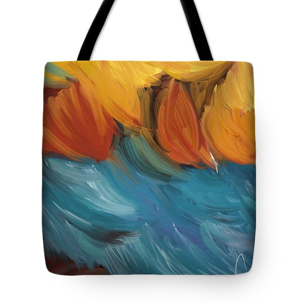 Feathers 5 Tote Bag by Naomi McQuade