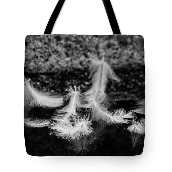 Angels Pass By - Monochrome Tote Bag