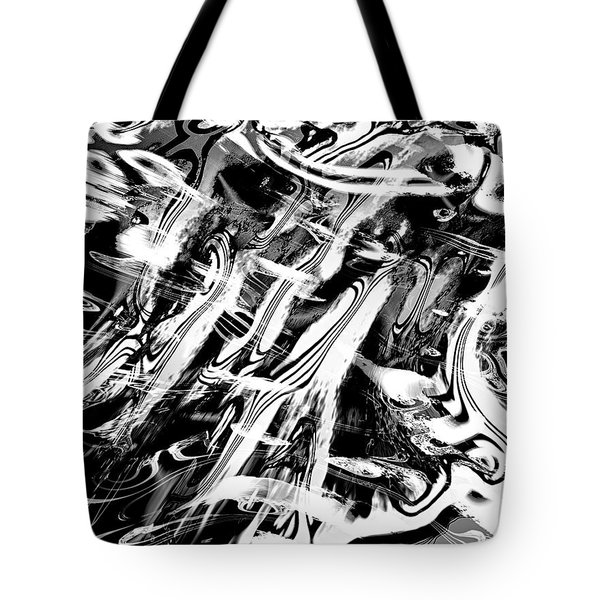 Black And White Abstract Tote Bag by Kellice Swaggerty
