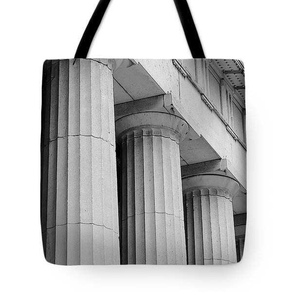 Federal Hall Columns Tote Bag by Jerry Fornarotto