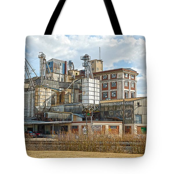 Feed Mill Hdr Tote Bag by Charles Beeler