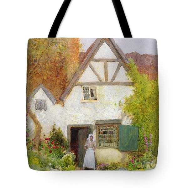 Feeding The Cat Tote Bag by Arthur Claude Strachan