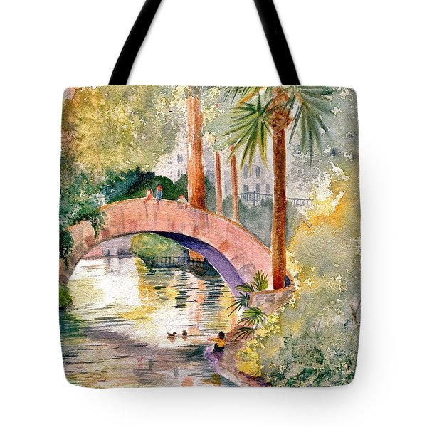 Feeding The Ducks Tote Bag by Marilyn Smith