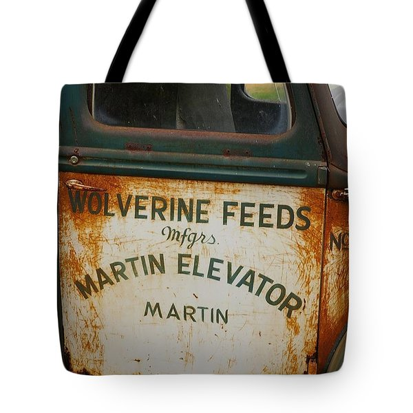 Feeds Of The Past Tote Bag by Randy Pollard