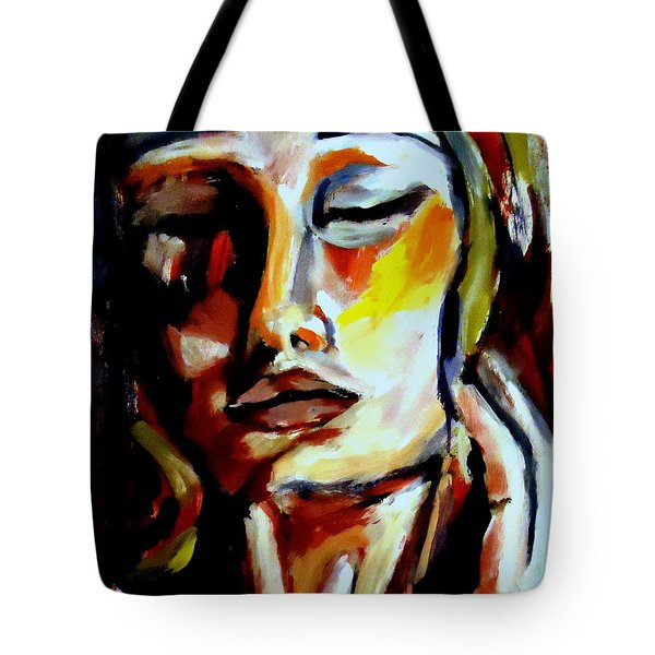 Tote Bag featuring the painting Feel by Helena Wierzbicki