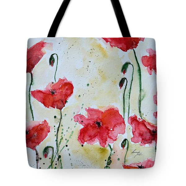 Feel The Summer 1 - Poppies Tote Bag by Ismeta Gruenwald