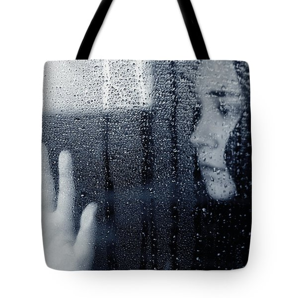 Feeling Blue Tote Bag by Lisa Knechtel
