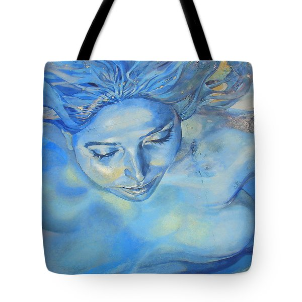 Tote Bag featuring the photograph Feeling Blue by Ramona Johnston