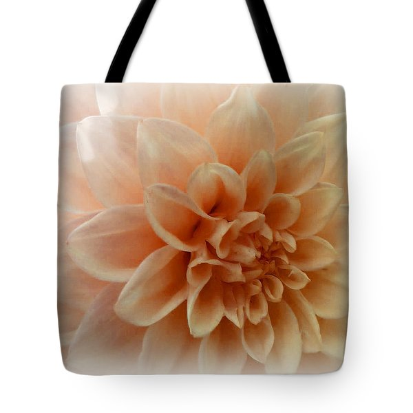 Feeling Peachy Tote Bag by Faye Symons