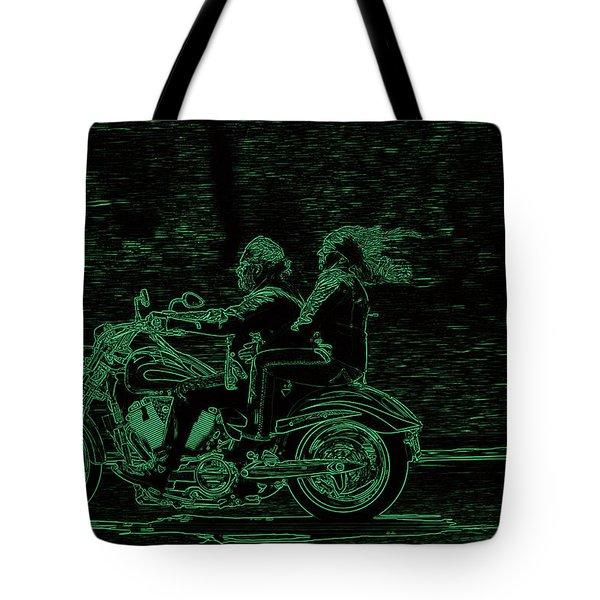 Feeling The Ride Tote Bag by Karol Livote