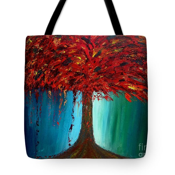 Tote Bag featuring the painting Feeling Willow by Ania M Milo