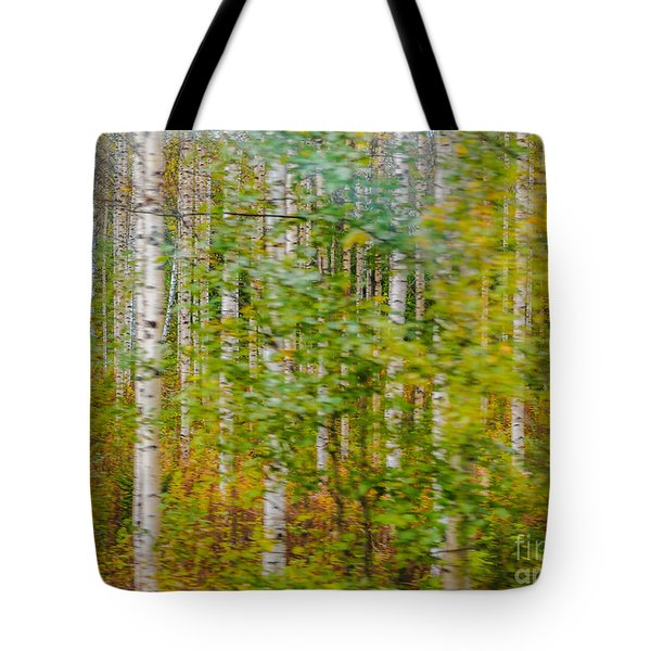 Feels Like Autumn In A Forest Of Birch Trees Tote Bag