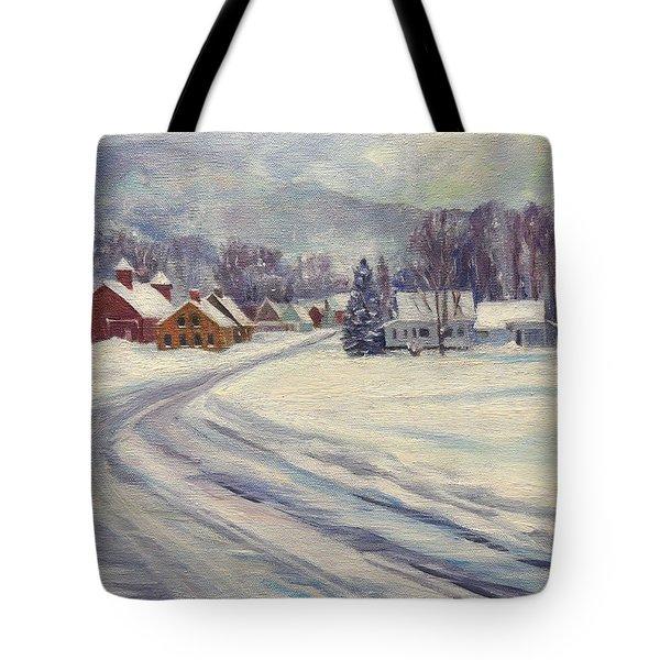 Felchville Village In The Snow Tote Bag