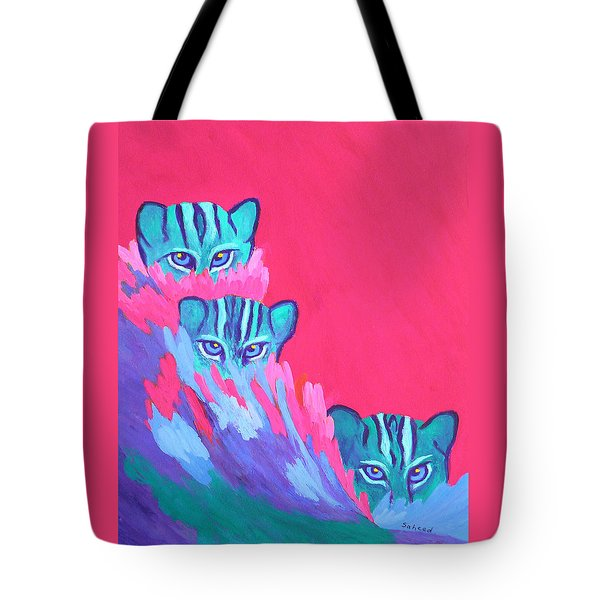 Feline Fishers Tote Bag