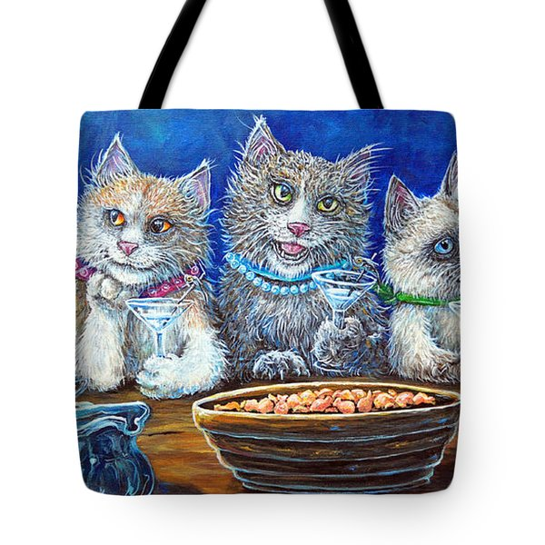 Felines After Five Tote Bag
