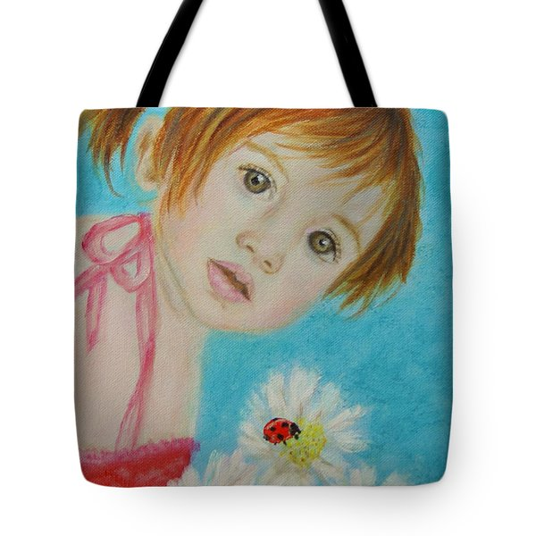Felisa Little Angel Of Happiness And Luck Tote Bag by The Art With A Heart By Charlotte Phillips