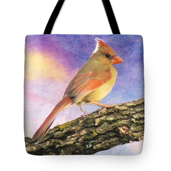 Female Cardinal Away From Sun Tote Bag