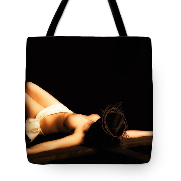 Female Crucifix Xviii Century Tote Bag