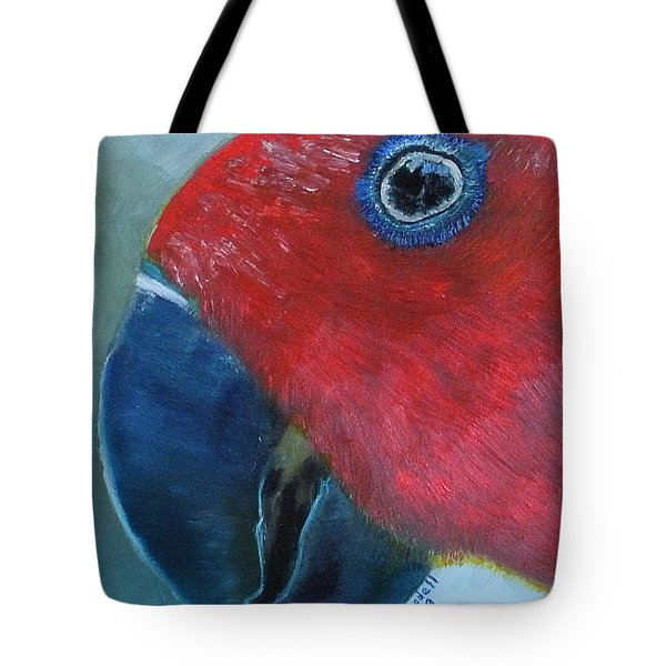 Female Eclectus Tote Bag