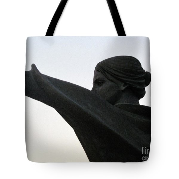 Female Educator Reaching Out Two Tote Bag by Tina M Wenger