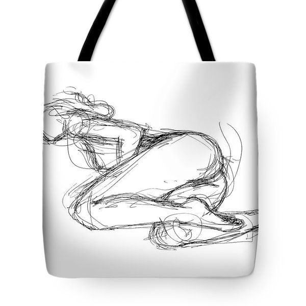 Female-erotic-sketches-8 Tote Bag