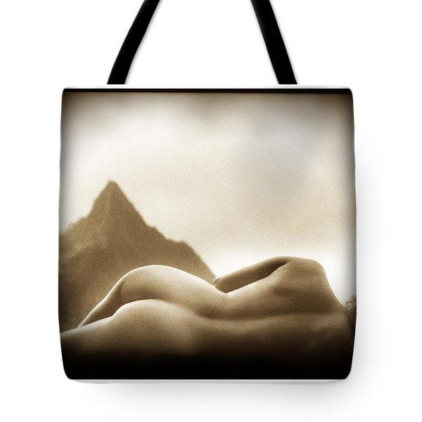 Female Nude At Mt. Pali Hawaii Tote Bag