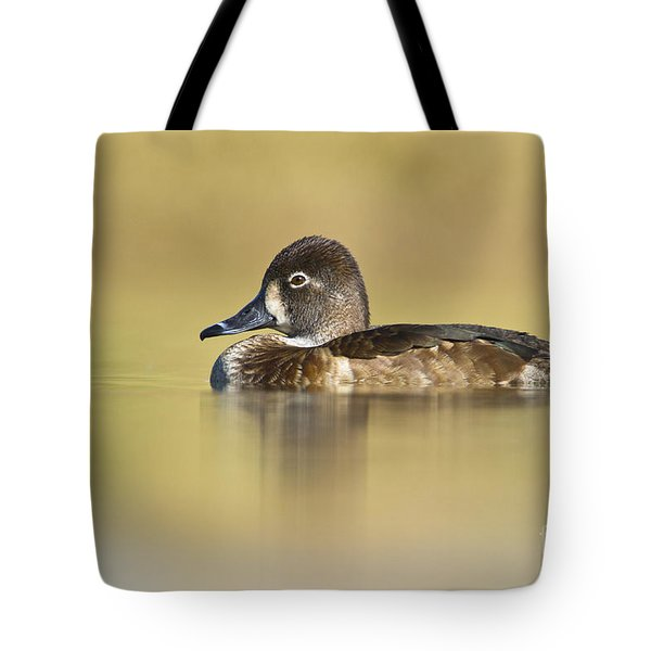 Female Ring Necked Duck Tote Bag by Bryan Keil