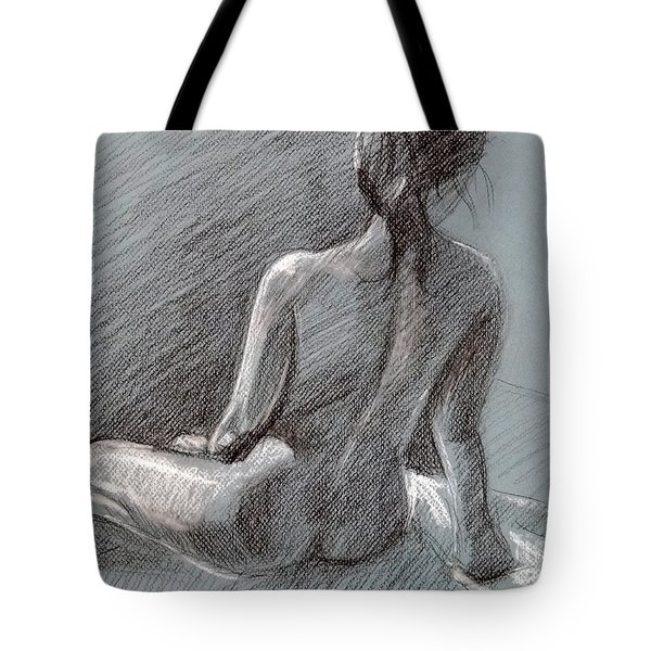 Female Seated Back Tote Bag