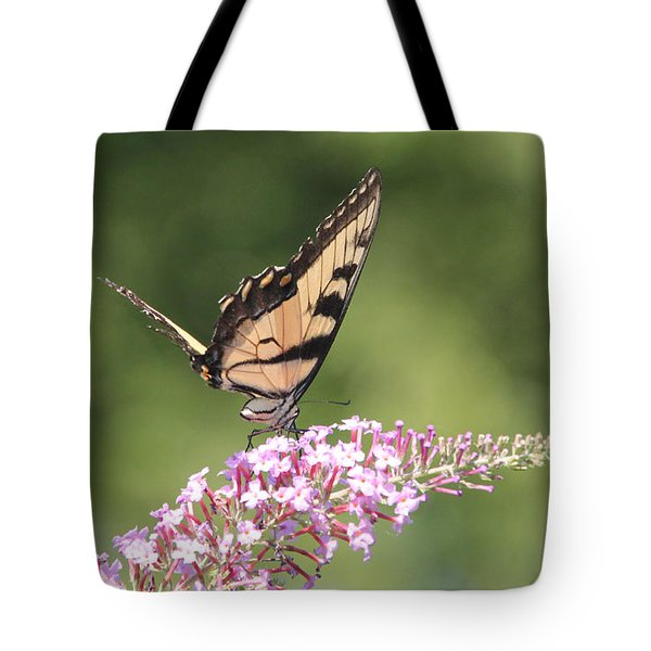 Female Tiger Butterly-1-featured In Macro-comfortable Art And Newbies Groups Tote Bag by EricaMaxine  Price