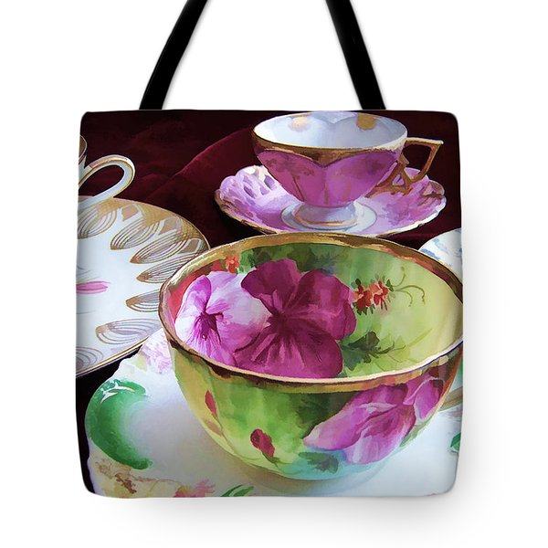 Feminine High Society Ladies Tea Party Tote Bag
