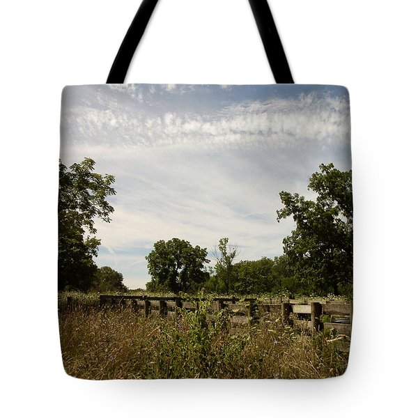 Fence 2 Tote Bag by Cynthia Lassiter