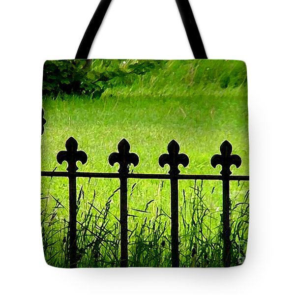 Fence And Cross Tote Bag