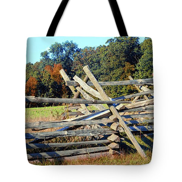 Fence At Gettysburg National Military Tote Bag