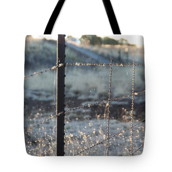 Fence Tote Bag by David S Reynolds