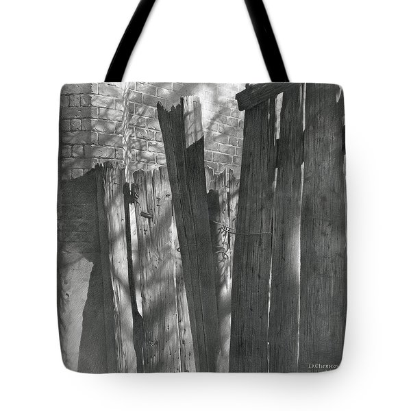Fence Installation  Tote Bag
