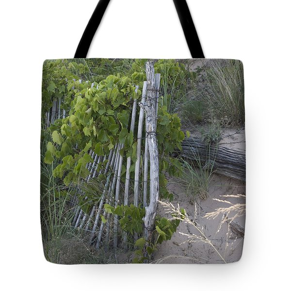 Fence N Sand Tote Bag by Tara Lynn