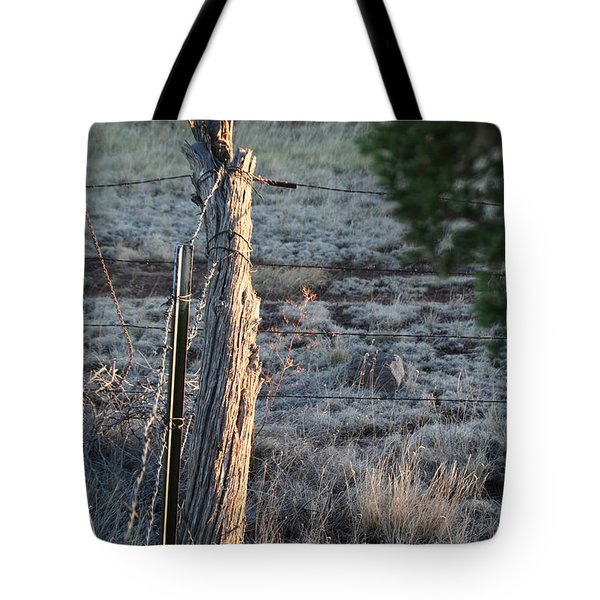 Tote Bag featuring the photograph Fence Post by David S Reynolds
