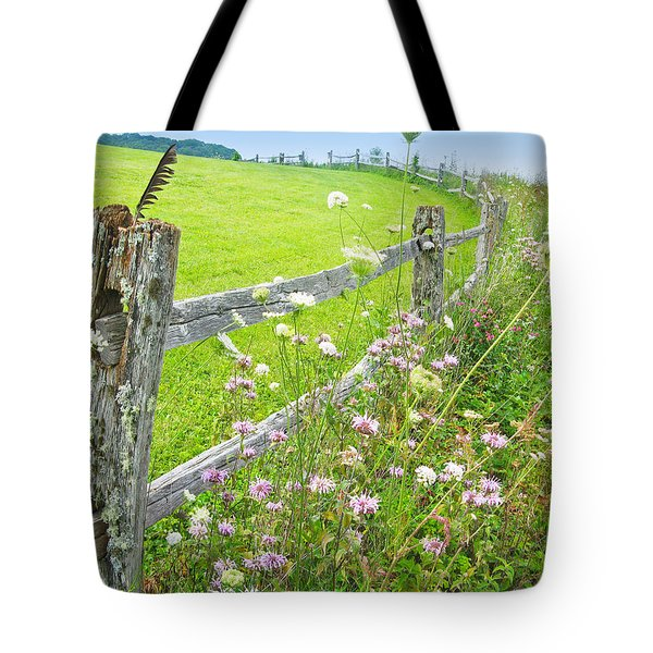 Fence Post Tote Bag by Melinda Fawver