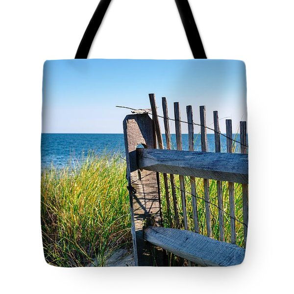 Tote Bag featuring the photograph Fence With A Great View by Mike Ste Marie